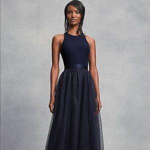 Vera Wang Navy Blue Dress